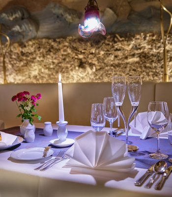 Unique restaurant in a stalactite cave in Prague - Gourmet restaurant in Prague city center
